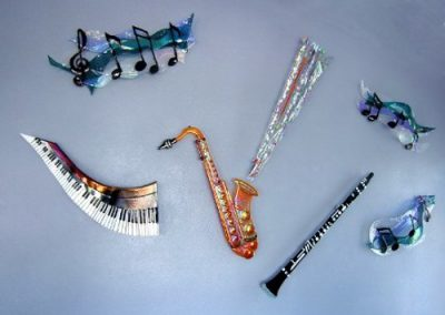 Musical Instruments made from Dichroic Glass- Art