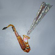 Sax and Musical Blast Glass Art